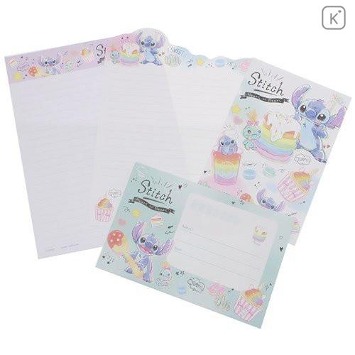 Japan Disney Letter Envelope Set - Stitch Pop Sweets - 4
