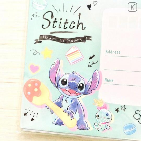 Japan Disney Letter Envelope Set - Stitch Pop Sweets - 5