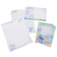 Japan Disney Letter Envelope Set - Stitch Watercolor