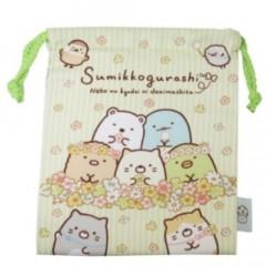 Japan Sumikko Gurashi Drawstring Bag - Flower