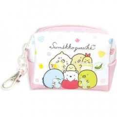 Japan Sumikko Gurashi Keychain Coin Purse - Pink