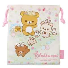 Japan Rilakkuma Drawstring Bag - Korilakkuma Easter Rabbit