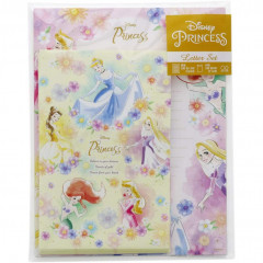 Japan Disney Letter Envelope Set - Princess Rapunzel Belle Ariel