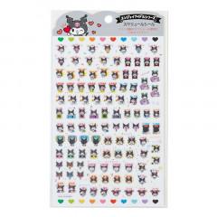 Japan Sanrio Sticker - Kuromi Expression