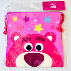 Japan Disney Drawstring Bag - Lotso Faces
