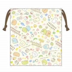 Japan Sumikko Gurashi Drawstring Bag - Light Beige