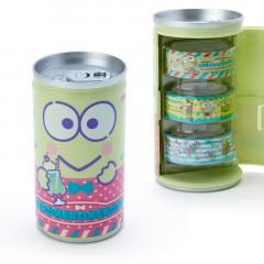 Japan Sanrio Washi Masking Tape 3 Rolls Set Can - Kerokerokeroppi