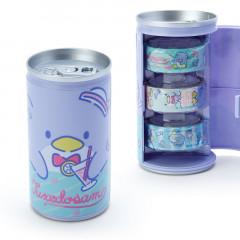 Japan Sanrio Washi Masking Tape 3 Rolls Set Can - Tuxedosam