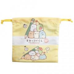 Japan Sumikko Gurashi Drawstring Bag - Studying Time Yellow