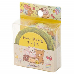Japan San-X Washi Paper Masking Tape - Rilakkuma Bear Yellow