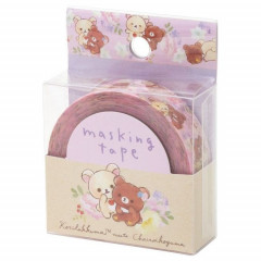 Japan San-X Washi Masking Tape - Korilakkuma & Chairoikoguma Pink