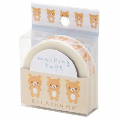 Japan San-X Washi Masking Tape - Rilakkuma White