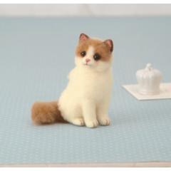 Japan Hamanaka Aclaine Needle Felting Kit - Ragdoll Cat