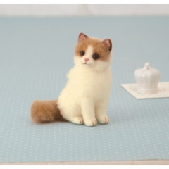 Japan Hamanaka Wool Needle Felting Kit - Ragdoll Cat