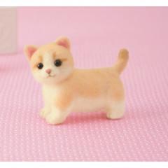 Japan Hamanaka Aclaine Needle Felting Kit - Munchkin Cat