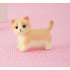 Japan Hamanaka Wool Needle Felting Kit - Munchkin Cat