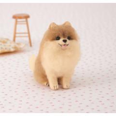 Japan Hamanaka Wool Needle Felting Kit - Pomeranian Dog