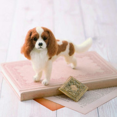 Japan Hamanaka Wool Needle Felting Kit - Cavalier Dog