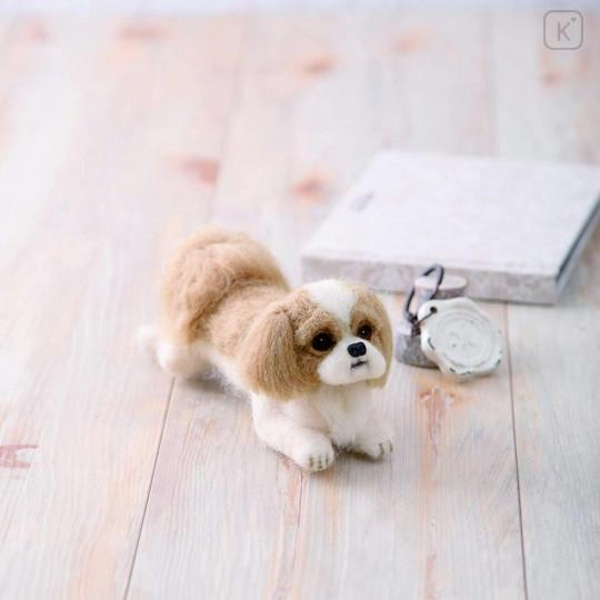Japan Hamanaka Wool Needle Felting Kit - Shih Tzu Dog - 1