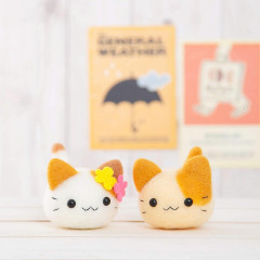 Japan Hamanaka Wool Needle Felting Kit - Twins Kittens