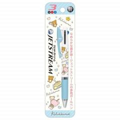 Japan San-X Jetstream 3 Color Multi Ball Pen - Rilakkuma / Cafe
