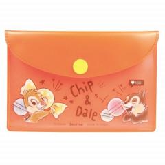 Japan Disney Chip & Dale Sticky Memo & Folder Set