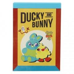 Japan Disney B8 Mini Notepad - Toy Story Ducky & Bunny