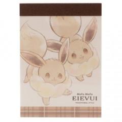 Japan Pokemon B8 Mini Notepad - Eevee Love
