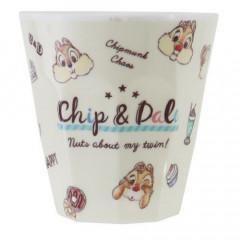 Japan Disney Acrylic Cup - Chip & Dale Beige