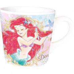 Japan Disney Princess Ceramic Mug - Little Mermaid Ariel Dare to Sparkle