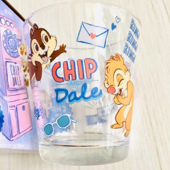 Japan Disney Glasses Cup - Chip & Dale