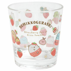 Japan San-X Acrylic Cup - Sumikko Gurashi & Strawberry