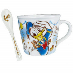 Japan Disney Ceramic Mug - Donald Duck & Chip & Dale with Gift Box Set