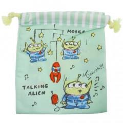 Japan Disney Drawstring Bag - Toy Story Alien Little Green Men