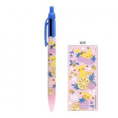 Japan Pokemon 2 Color Multi Pen & Mechanical Pencil - Pikachu Pink
