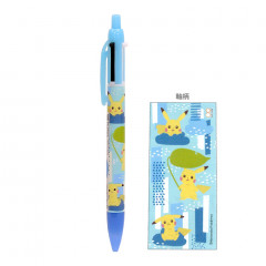 Japan Pokemon 2 Color Multi Pen & Mechanical Pencil - Pikachu Blue