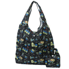 Japan Disney Eco Shopping Bag - Toy Story Little Green Men Black