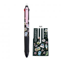 Japan Sailor Moon × Pilot FriXion Erasable 0.38mm 3-Color Multi Gel Pen - Sailor Moon Black