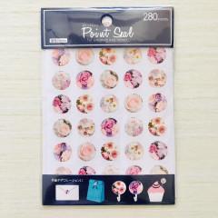 Kawaii Point Seal Sticker 280pcs - White Flower