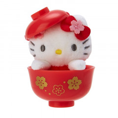Japan Sanrio Mini Plush (S) - Hello Kitty & Sakura