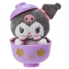 Japan Sanrio Mini Plush (S) - Kuromi & Sakura