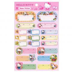 Japan Sanrio Name Tag Sticker - Hello Kitty & Friends
