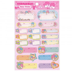 Japan Sanrio Name Tag Sticker - Little Twin Stars