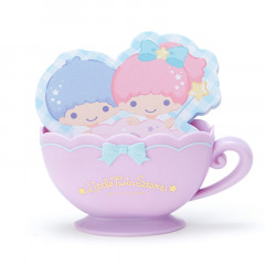 Japan Sanrio Memo Pad with Cup Case - Little Twin Stars