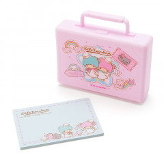 Japan Sanrio Memo Pad with Card Case - Little Twin Stars