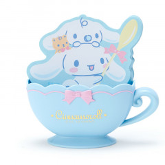 Japan Sanrio Memo Pad with Cup Case - Cinnamoroll