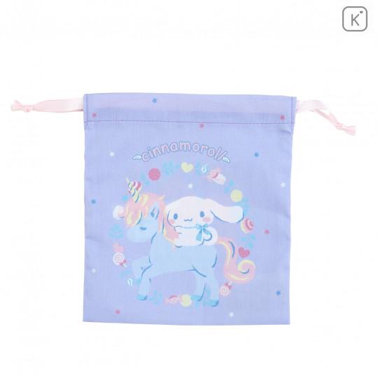 Japan Sanrio Drawstring Bag - Cinnamoroll & Unicorn - 1