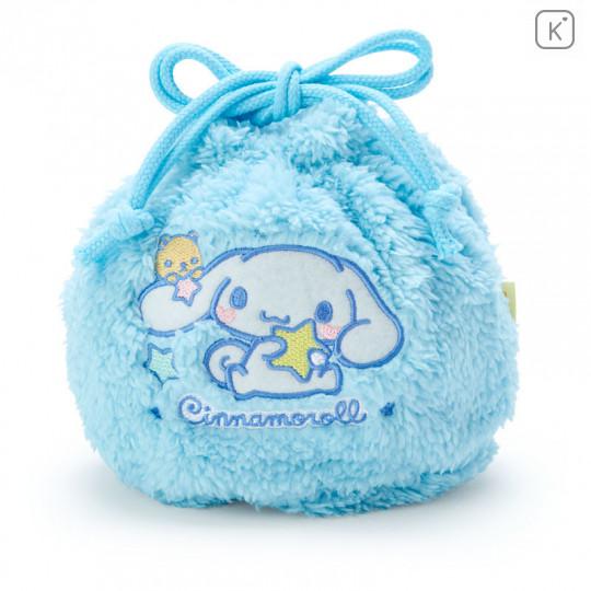 Japan Sanrio Drawstring Bag - Cinnamoroll Stuffed Blue - 1