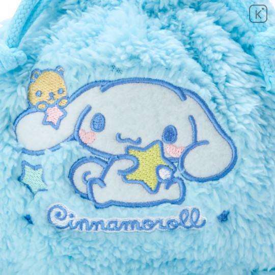 Japan Sanrio Drawstring Bag - Cinnamoroll Stuffed Blue - 2
