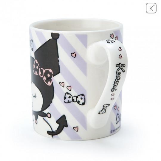 Japan Sanrio Pottery Mug - Kuromi - 3